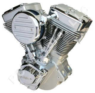 BRUTO 131 CI NATURAL & CHROME FINISH ENGINE MOTOR EVOLUTION EVO HARLEY