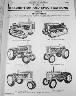 John Deere 420 420C Crawler Tractor Service Manual Repair Shop