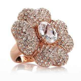 pave crystal flower ring rating 1 $ 69 95 or 3 flexpays of