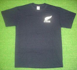 Blacks Shirt Black White Rugby World Cup 2011 T Shirt Jersey