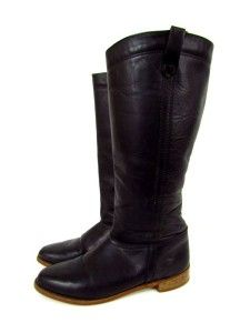 Vintage Womens Black English Riding Boots Leather Classic Equestrian