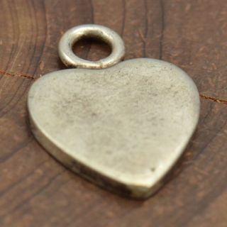 Sterling Silver Engravable Heart Charm Pendant AG161