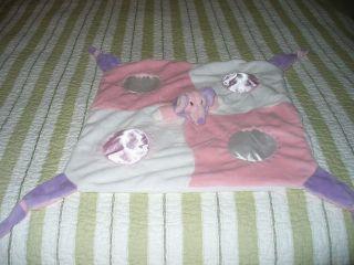 Pink Purple Elegant Baby Elegantbaby Elephant Lovey Security Blanket