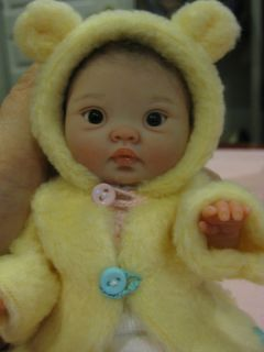 OOAK Mini Baby by Elena Wesbrook 7 Brown Almond Shaped Eyes