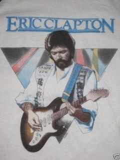 ERIC CLAPTON Vintage 1983 American TOUR Jersey Shirt Mens L RARE