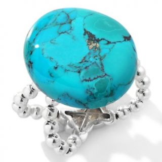 Studio Barse Turquoise Sterling Silver Stretch Ring