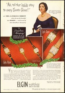 1948 Print Ad Elgin Watch Mrs Lawrence Tibbett Story for Santa Claus