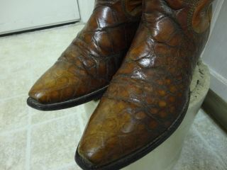 Paul Bond Exotic Animal Skin Western Cowboy Boots Beautiful