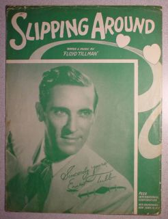 1949 Slipping Around Sheet Music • Ernest Tubb