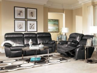 FABRICE   CONTEMPORARY BONDED LEATHER POWER RECLINER SOFA COUCH SET