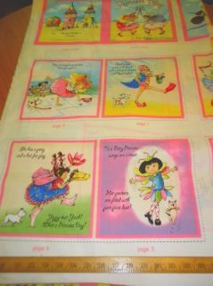 Elizabeth Studio Fabric Book Panel Joy Allen Princess Play Little