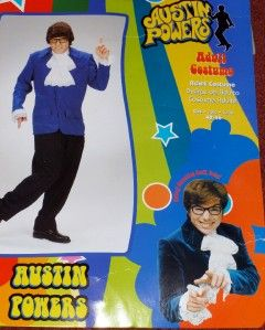 Halloween Costume Austin Powers Retro 1960s XL Extra Large Large XL L
