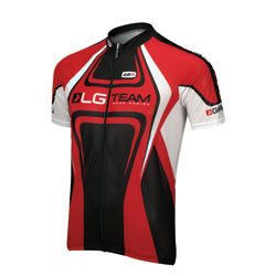 Louis Garneau Equipe Jersey Red Black White Large New