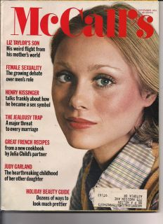 McCalls 1972 Lorna Luft Judy Garland Daughter Liz Taylor Son Henry