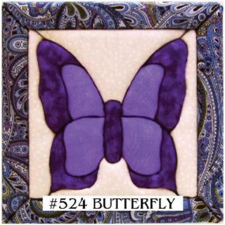 108 8244 quilt magic no sew wall hanging kit 6 x 6 butterfly rating be