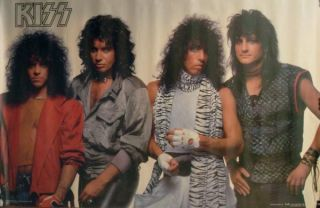 Kiss Animalize Poster Eric Carr Simmons Stanley St John
