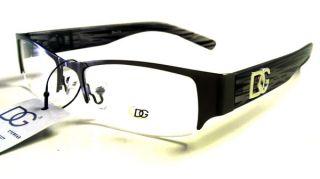 DG Eyewear Frames Clear Silver Gray Grey Black Metal Eye Glasses RX
