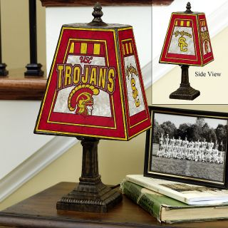 109 5138 handpainted art glass college team table lamp southern