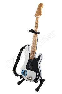 Miniature Guitar Steve Harris IRON MAIDEN Westham United & Strap