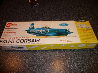 Sterling F 4U 5 Corsair balsa wood airplane model kit A14 Toy set