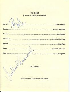 109 Autographed Program M Learned F Murray Abraham