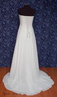 Maggie Sottero Ivory Chiffon Strapless Laced Wedding Dress 12