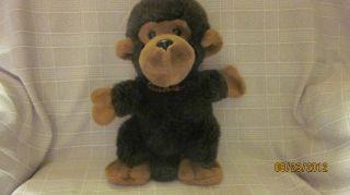 14 Vintage Chosun Hand Puppet Soft Monkey Plaid Bow Tie