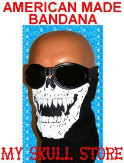 Skull Jaw Bone Bandana Face Mask Wind Scarf Motorcycle Ski Biker USA