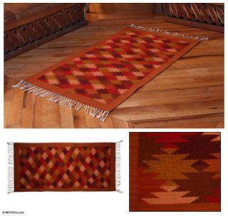 Mexico Hand Woven Zapotec Wool Area Rug 2x2 5 Novica Fair Trade