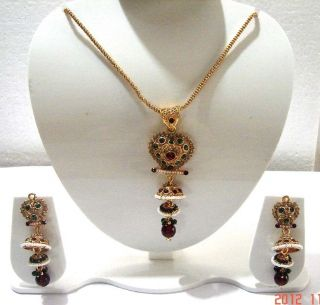 Gorgeous Pearl Gold Tone Kundan Bridal Necklace Jewelry ERT EHS