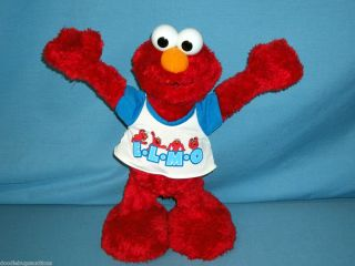 Fisher Price CHEER ELMO Tickle Me Animated Electronic Singing Doll