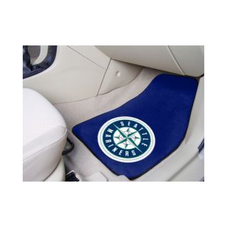 FANMATS MLB 2 Piece Novelty Carpeted Car Mats Seattle Mariners 6416