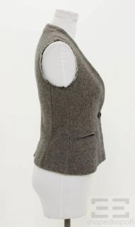 Etoile Isabel Marant Grey & Black Tweed Wool Vest Size 1 NEW