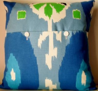 Designers Guild Espanola Way Cobalt Miami Ikat Cushion Pillow Cover