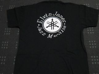 Elvin Jones Jazz Machine Yamaha Logo T Shirt Authentic