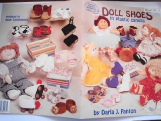 Doll Shoes N Plastic Canvas Patterns Am SCH Needlework
