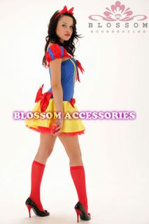 Adult Snow White Princess Fairy Tale Fancy Dress Party Hens Costume