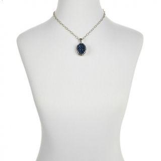 Hilary Joy Hilary Joy Cobalt Blue Drusy and White Topaz French Lace