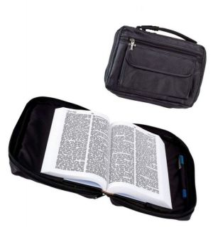 Embassy Italian Stone Genuine Leather Bible Cover and Holder W Extra