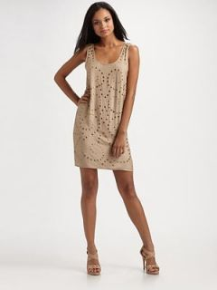 Haute Hippie Rebel Faithfull Studded Silk Dress XS $495