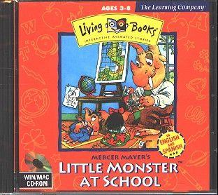 Living Books Little Monster at School CD for Win Mac New in JC