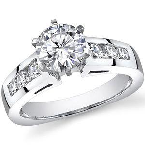 5mm Round Moissanite Euro Shank Engagement Ring