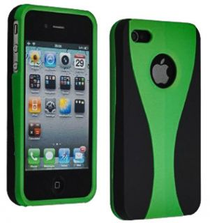 Green Hybrid 3 Piece Hard Case Cover for Apple iPhone 4 4G 4S New