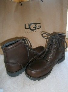 UGG FALLBROOK Boots/Shoes Broth Brown Leather US 12 / UK 11