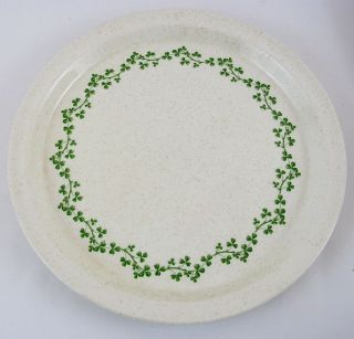 Emerald Isle Irish Clover Shamrock Dinner Plate Brendan Erin Stone