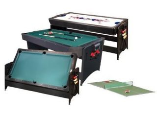 Pockey 3 in 1 Fat Cat Game Table Billiards Pool Hockey Tennis Table