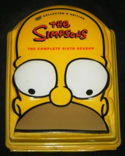 SIMPSONS COMPLETE SIXTH SEASON 25 Episode 4 Disc DVD Boxed Set   20th