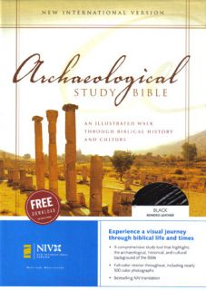 NEW Black Top Grain Leather, Thumb Indexed NIV Archaeological Study