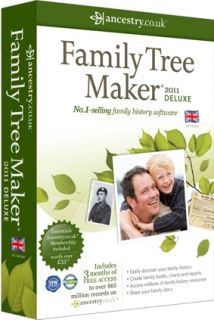 Family Tree Maker 2011 Deluxe Edition 3 Months Ancestry Essentials Sub