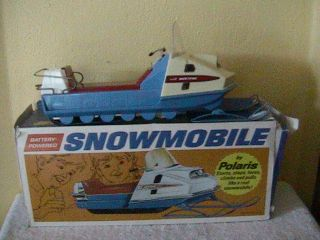 Mustang Battery Powered Toy Snowmobile original box Evansdale Iowa